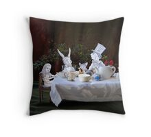 Alice in Wonderland/The Tea Party Throw Pillow