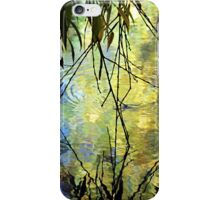 Blue Yellow Willow Water iPhone Case/Skin