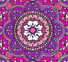 Purple Pop Mandala Lotus Flower  by wildwildwest
