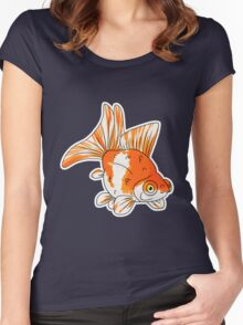 Fancy Goldfish - Butterflytail Women's Fitted Scoop T-Shirt