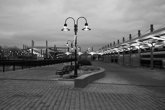New Jersey Transit Lightrail Station Hoboken NJ by pmarella