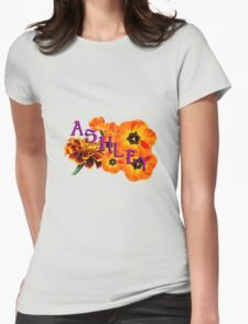 Ashley  with Flowers T-Shirt