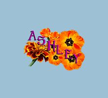 Ashley  with Flowers Womens Fitted T-Shirt