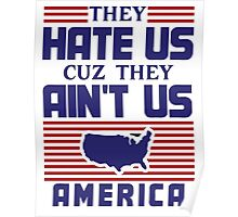 They Hate Us Cuz They Ain't Us - USA Poster