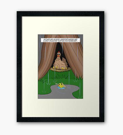 Poultry Piracy Framed Print