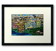 Neighborhood Reflections Framed Print