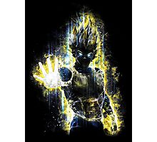 Dragon Ball Z Inspired Vegeta Epic Portrait Photographic Print