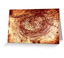 Japanese Reiki Distant Healing Treatment (image-Earth Birth) Greeting Card