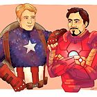 Cap and Iron Man by stitchlock