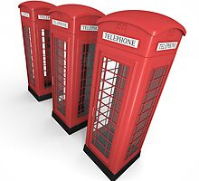 Three phone booths by bribry