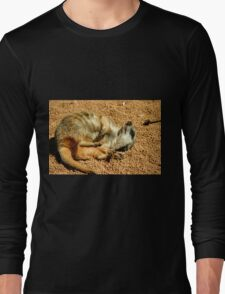 Meerkat in the sunshine Long Sleeve T-Shirt