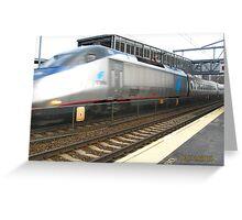 Amtrak Accelar Greeting Card
