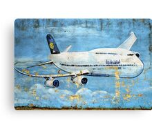 Jumbo jet, Indian Air Force Weathered Canvas Print