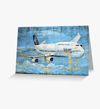 Jumbo jet, Indian Air Force Weathered Greeting Card