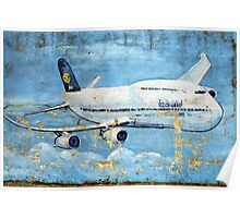 Jumbo jet, Indian Air Force Weathered Poster