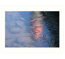 Reflection on Thin Ice Art Print