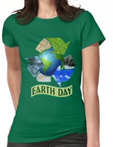 Earth Day 1 Womens Fitted T-Shirt