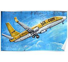 HLX Yellow Passenger Jet Laptop Cover Poster