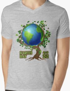 Earth Day 2 Mens V-Neck T-Shirt
