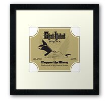 Conquer the Worm Framed Print