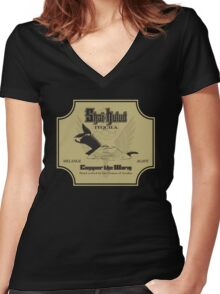 Conquer the Worm Women's Fitted V-Neck T-Shirt