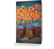 Croft Alley Bins Greeting Card