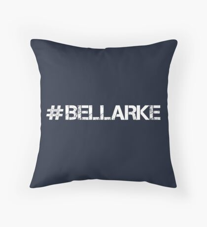 #BELLARKE (White Text) Throw Pillow