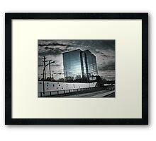 City Winter Scene Framed Print