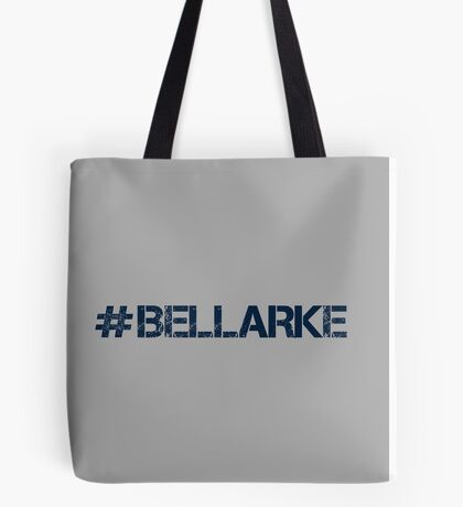 #BELLARKE (Navy Text) Tote Bag