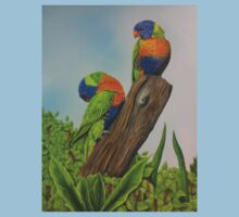 Lorikeets on the log T-Shirt
