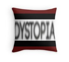 Dystopia Censored Throw Pillow