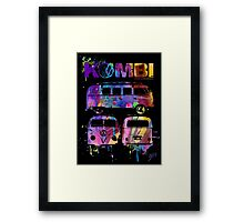 Volkswagen Kombi 3 Way (bright) Framed Print
