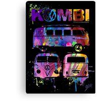 Volkswagen Kombi 3 Way (bright) Canvas Print
