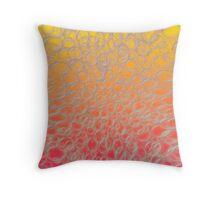 Sunset Bubble Design  Throw Pillow