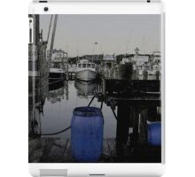 Blue Barrels at the Marina iPad Case/Skin