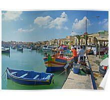 Marsaxlokk Harbour Poster