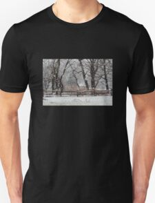 Snowy Day in the Park Unisex T-Shirt
