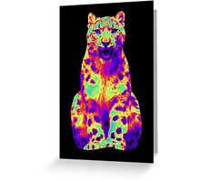 Psychedelic Cat III Greeting Card