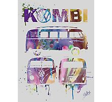 Volkswagen Kombi 3 Way (faded) Photographic Print