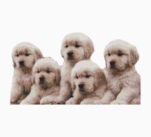Golden Retriever Puppies Sticker by icreatetees