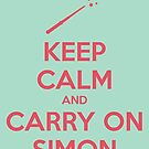 Keep Calm and Carry On Simon—Pink Text by 4everYA