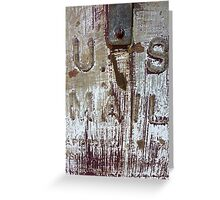 Rusty Delivery Greeting Card