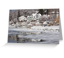 Icy Snowy Winter Wonderland Greeting Card