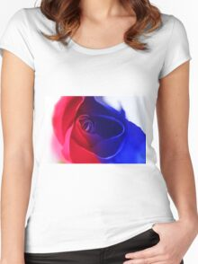 patriotic rose Women's Fitted Scoop T-Shirt