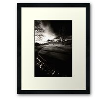 """Under the boardwalk out of the sun"" Framed Print"