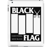 Black Flag - Everything Went Black iPad Case/Skin