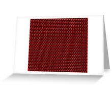 Red Black Dot Grid Greeting Card