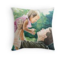 """""""Lift Me Up"""" Colored Pencil by Charlotte Yealey Throw Pillow"""