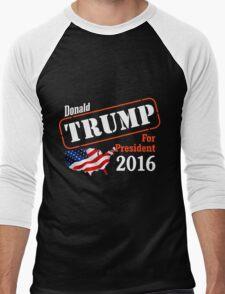 Donald Trump for president 2016 Election Men's Baseball ¾ T-Shirt