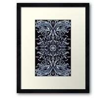 - Black pattern - Framed Print